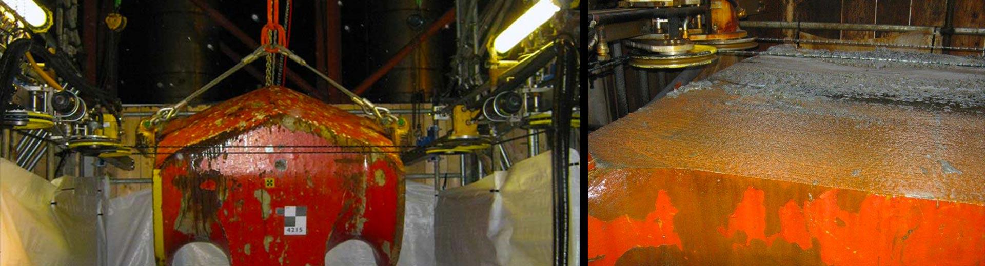 DWCM Diamond Wire Cutting Machine cutting solid steel pad eye
